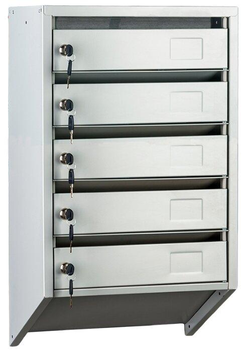 Почтовый ящик ПРОМЕТ PB-5C KL 730х390 мм, серый