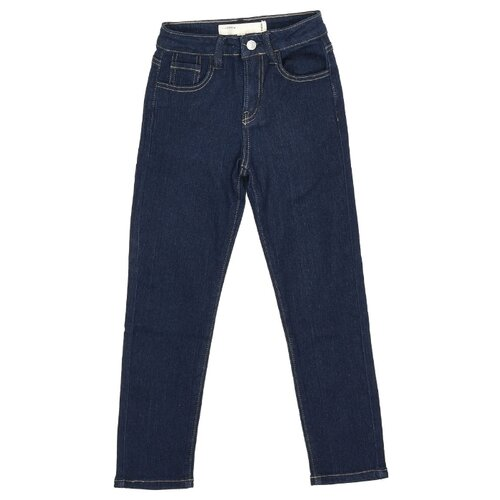 Джинсы MODIS размер 140, темно-синий джинсы miamoda klingel цвет темно синий