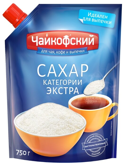 Сахар Чайкофский Сахар Экстра для чая, кофе и выпечки