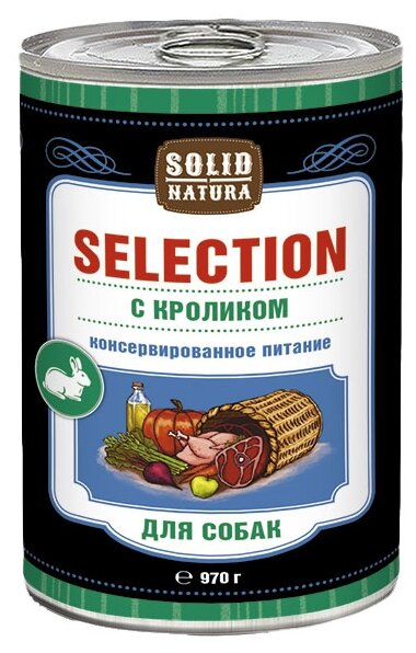 Корм для собак Solid Natura Selection для собак - Кролик