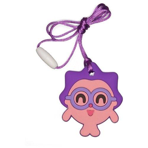 Купить Прорезыватель iSюминка Малышарики Ёжик на шнурке розовый/фиолетовый, Погремушки и прорезыватели