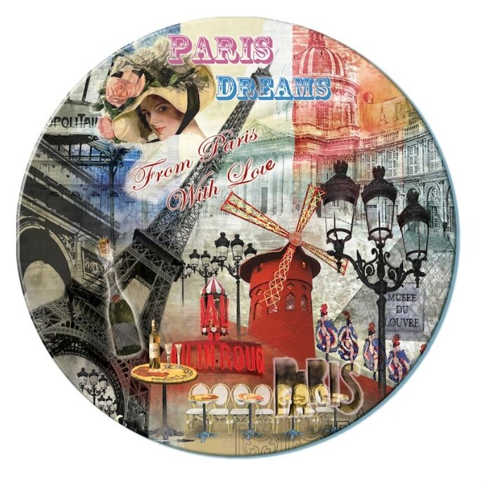 """""""Gift`n Home"""" Доска разделочная/подставка под горячее 19 см Парижские фантазии RCB-PDREAMS"""