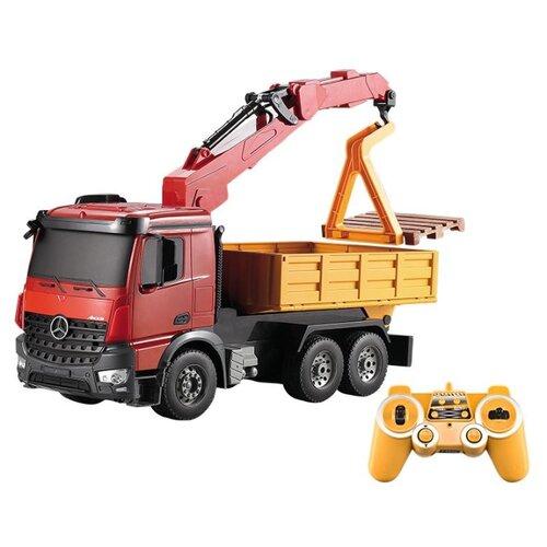 Купить Погрузчик Double Eagle Mercedes-Benz Arocs E565-003 1:20 38 см красный/желтый/черный, Радиоуправляемые игрушки