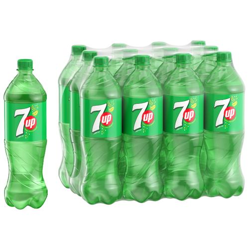 Газированный напиток 7-UP Лимон-Лайм, 1 л, 12 шт.Лимонады и газированные напитки<br>