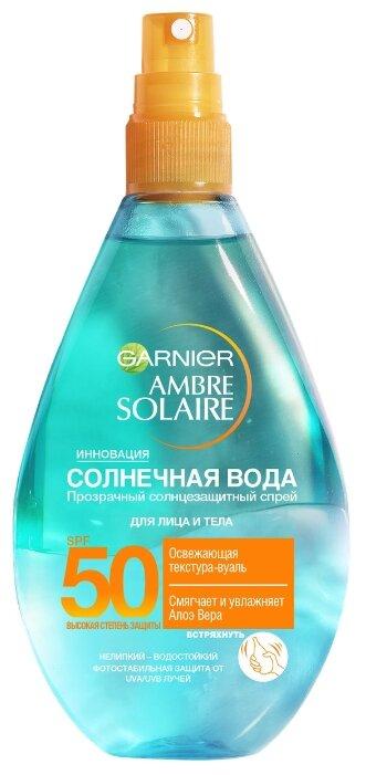 GARNIER Ambre Solaire солнцезащитный спрей для тела Солнечная вода SPF 50