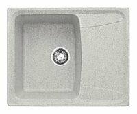 Врезная кухонная мойка Gran-Stone GS-17K 60.5х49см искусственный мрамор