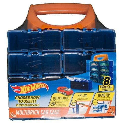 Купить Кейс Mattel Hot Wheels для хранения и игр 8 машинок синий, Хранение игрушек