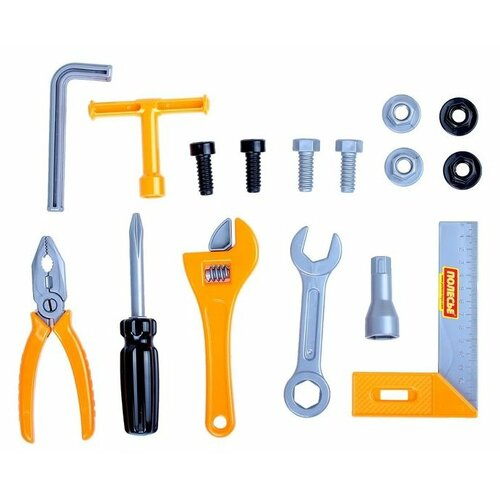 Купить Полесье Набор инструментов №12, 17 элементов (в пакете) (59277), Детские наборы инструментов