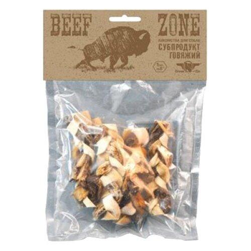 Лакомство для собак Green Qzin Beef zone Косички из сыромятной говяжьей кожи и мяса 6, 5шт. в уп.Лакомства для собак<br>