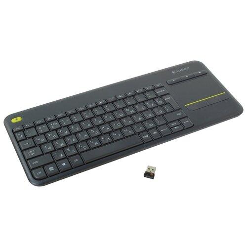 Клавиатура Logitech Wireless Touch Keyboard K400 Plus Black USB цена 2017