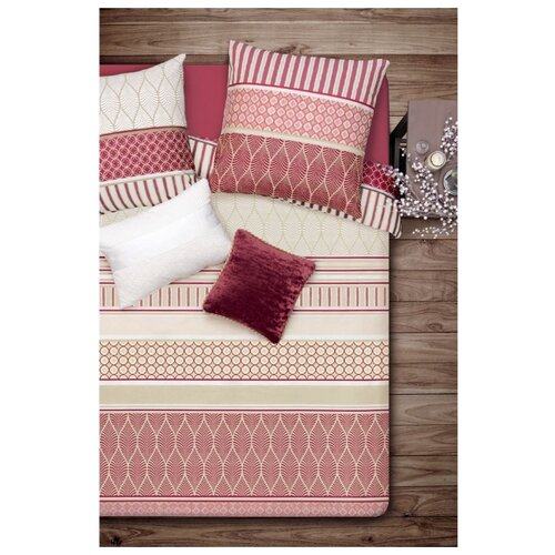 Постельное белье 1.5-спальное Sova & Javoronok Корица 50х70 см, бязь красно-коричневый постельное белье 1 5 спальное sova