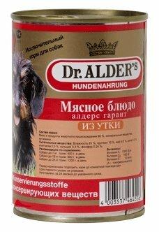 Корм для собак Dr. Alder`s АЛДЕРС ГАРАНТ утка рубленое мясо Для взрослых собак (0.4 кг) 1 шт.
