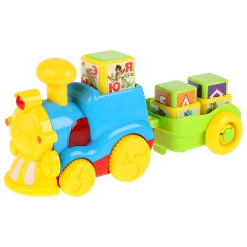 Развивающая игрушка Умка Обучающий паровоз Азбука животных желтый/голубой/зеленый игрушка eichhorn паровоз электронный 100001303