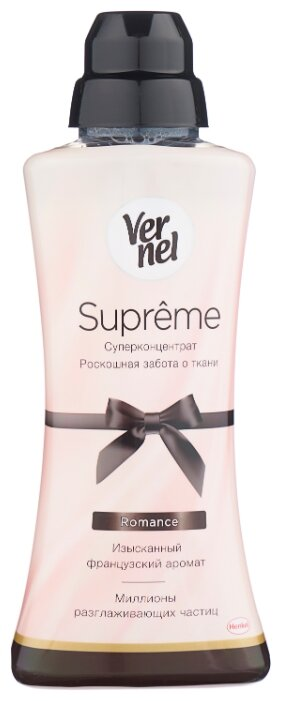 Купить Vernel Концентрированный кондиционер для белья Supreme Romance, 0.6 л, флакон по низкой цене с доставкой из Яндекс.Маркета (бывший Беру)