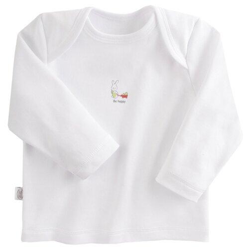 Купить Лонгслив Наша мама размер 68, белый, Футболки и рубашки