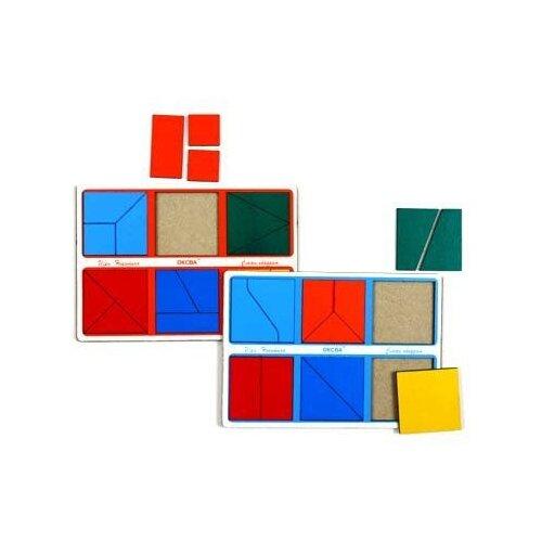 Купить Развивающая игра Оксва Сложи квадрат 1-й уровень (класс «эконом»), Обучающие материалы и авторские методики