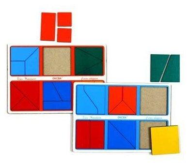 Развивающая игра Оксва Сложи квадрат 1-й уровень (класс «эконом»)