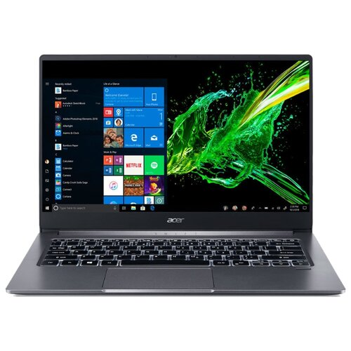 Купить Ноутбук Acer SWIFT 3 SF314-57-71KB (Intel Core i7 1065G7 1300MHz/14 /1920x1080/16GB/1024GB SSD/DVD нет/Intel Iris Plus Graphics/Wi-Fi/Bluetooth/Windows 10 Home) NX.HJGER.004 серый