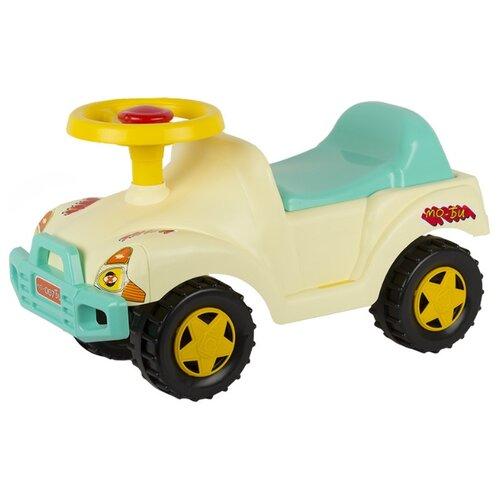 Купить Каталка-толокар СТРОМ Автомобиль (У431) бежевый, Каталки и качалки