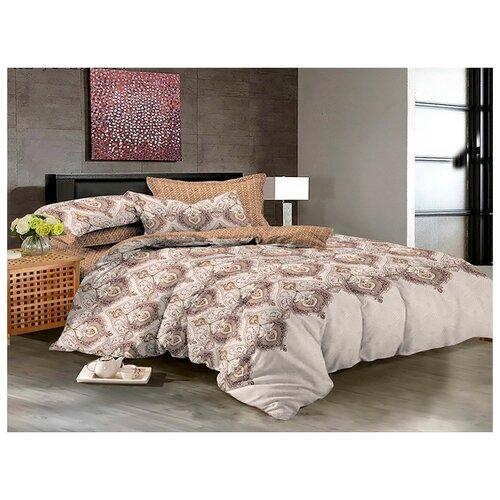 Постельное белье 2-спальное с евро простыней Бояртекс Luxor 32200 A HL сатинКомплекты<br>