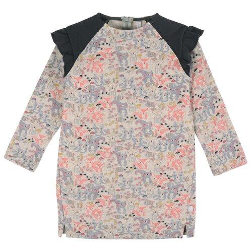 Купить Платье Мамуляндия размер 116, темно-серый/бежевый, Платья и сарафаны