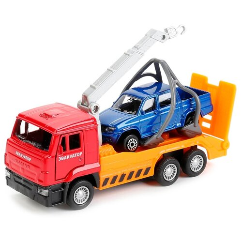 Купить Набор машин ТЕХНОПАРК SB-17-24-I-WB красный/оранжевый/синий, Машинки и техника