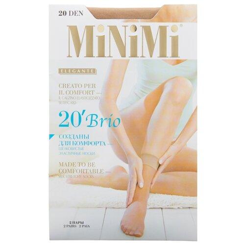 Капроновые носки MiNiMi Brio 20 Den, 2 пары, размер 0 (one size), caramello