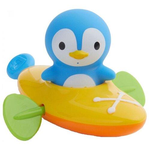 Купить Игрушка для ванной Munchkin Пингвин в лодке (11011) голубой / желтый, Игрушки для ванной