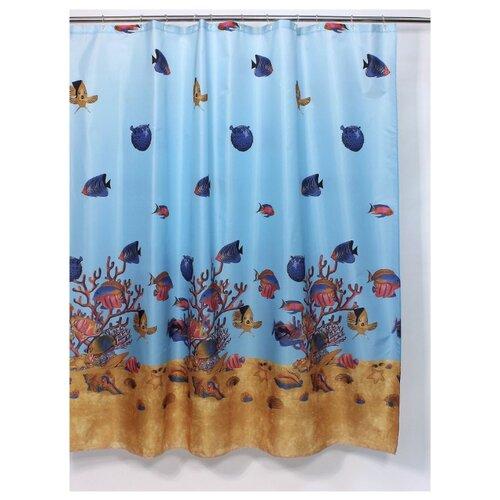 Штора для ванной Bath Plus Greatbarrier Reef 180х180 голубой