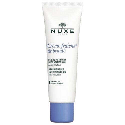 Nuxe Creme Fraiche de Beaute 48H Moisture Mattifying Fluid Увлажняющая матирующая эмульсия для лица, 50 мл крем для ухода за кожей nuxe creme fraiche de beaute 48 часов увлажняющий 30 мл