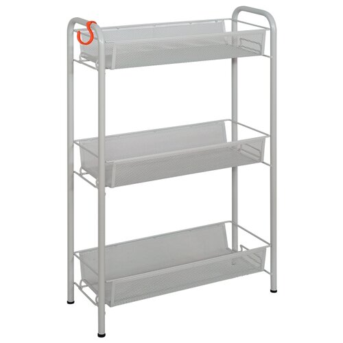 Этажерка ЗМИ Ладья 1, материал: пластик, ШxГxВ: 44х17х70 см, серый этажерка rosenberg 108 30 30 см