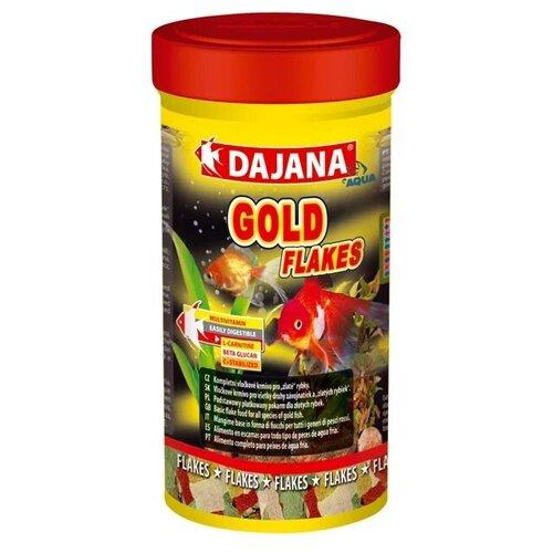 Сухой корм для рыб Dajana Pet Gold Flakes 500 мл 100 г сухой корм для рыб dajana pet malawi flakes 1000 мл 200 г