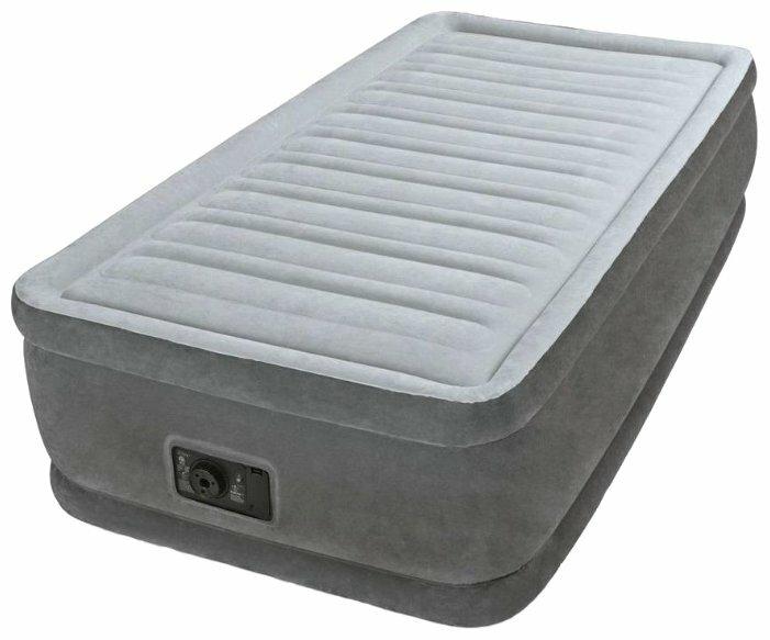 Надувная кровать Intex Comfort-Plush Mid Rise Airbed (Full), 137x191х33см, со встроенным насосом 220V, арт. 67768, Интекс