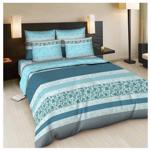Постельное белье семейное Letto B83 70х70 см, бязь голубой letto детское постельное белье 3 предмета letto машинки голубой