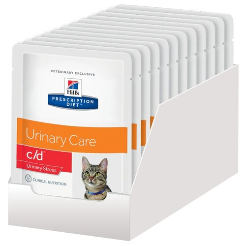 Корм для кошек Hill's Prescription Diet для профилактики МКБ, с курицей 12шт. х 85 г (кусочки в соусе)