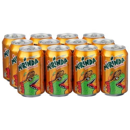 Газированный напиток Mirinda, 0.33 л, 12 шт. газированный напиток мингаз лимонад 0 5 л 12 шт