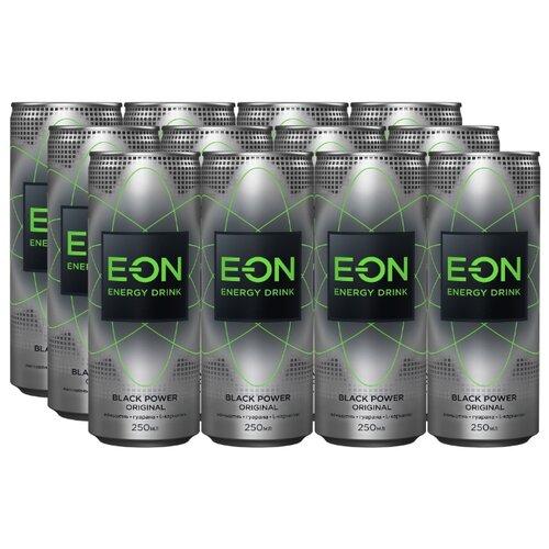 Энергетический напиток E-ON Black Power, 0.25 л, 12 шт.