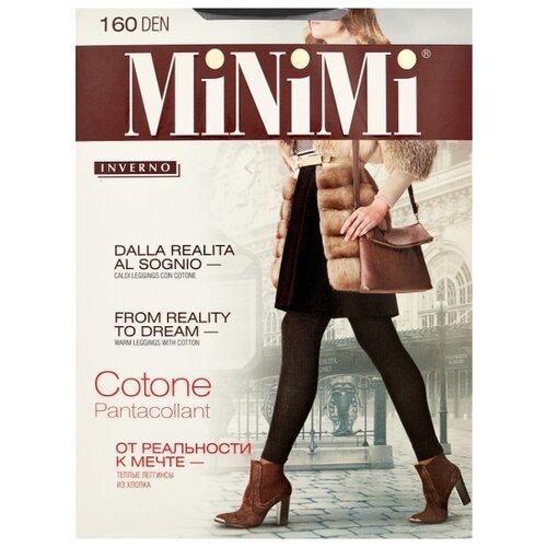 Леггинсы MiNiMi Pantacollant Cotone 160 den, размер 4-L, nero (черный) колготки minimi cotone 250 den размер 4 l nero черный