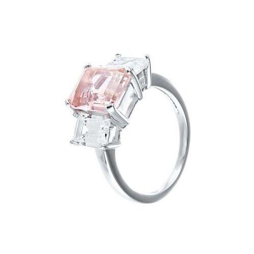 JV Кольцо с фианитами из серебра SR-B02458C2-KO-001-WG, размер 17 jv кольцо с фианитами из серебра r25858 001 wg размер 17