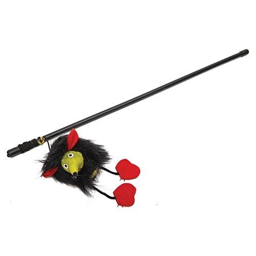 Дразнилка для кошек КАСКАД Удочка с Микки Маусом (27754651) черный/красный/желтый