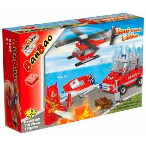 Купить Конструктор BanBao Пожарные 8129, Конструкторы