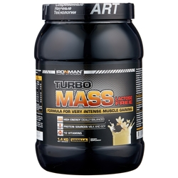 Гейнер IRONMAN Turbo Mass Lactose Free (1.4 кг)