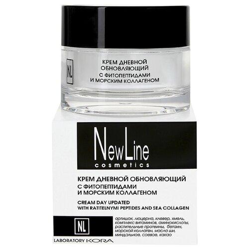 Крем NewLine дневной обновляющий с фитопептидами и морским коллагеном, 50 мл