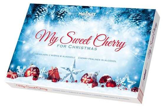 Подарочный набор Magnat пралине из темного шоколада с вишневым ликером My Sweet Cherry 145 г