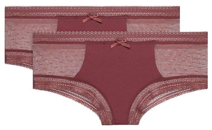 DIM Набор трусов шорты Sexy Transparency c кружевными вставкам, 2 шт.