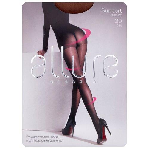 Фото - Колготки ALLURE Classic Support 30 den, размер 4, glase (золотистый) колготки allure classic support 30 den размер 5 glase золотистый