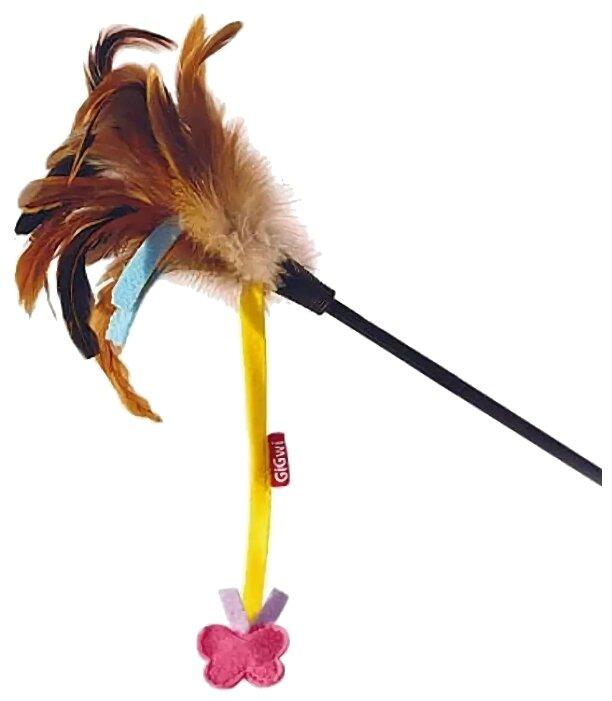 Дразнилка для кошек GiGwi Cat Toys на стеке с бабочкой (75246)