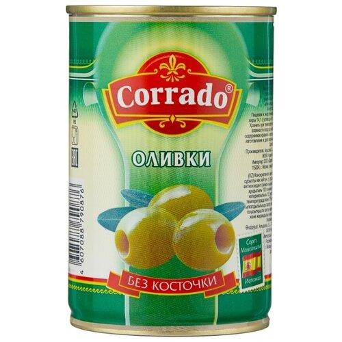 Corrado Оливки без косточки в рассоле, жестяная банка 300 г corrado маслины крупные отборные без косточки 300 г
