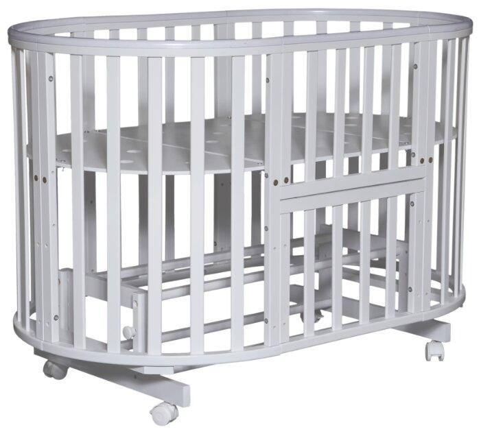 Кроватка Кедр Sofia 4 6в1 (маятник универсальный + ПВХ накладки)