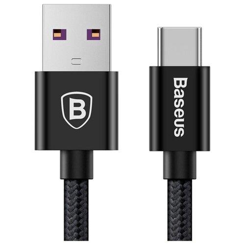 Кабель Baseus Speed QC USB - USB Type-C (CATKC) 1 м черный кабель baseus yiven artistic usb usb type c catyw 5 м черный